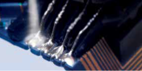 ボンディングパッド電極をCO2スノーでドライ洗浄